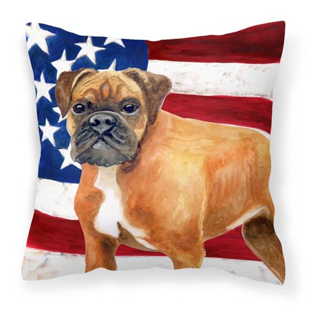 Carolines Treasures BB9640PW1818 German Boxer Patriotic Fabric Decorative Pillow - image 1 de 1