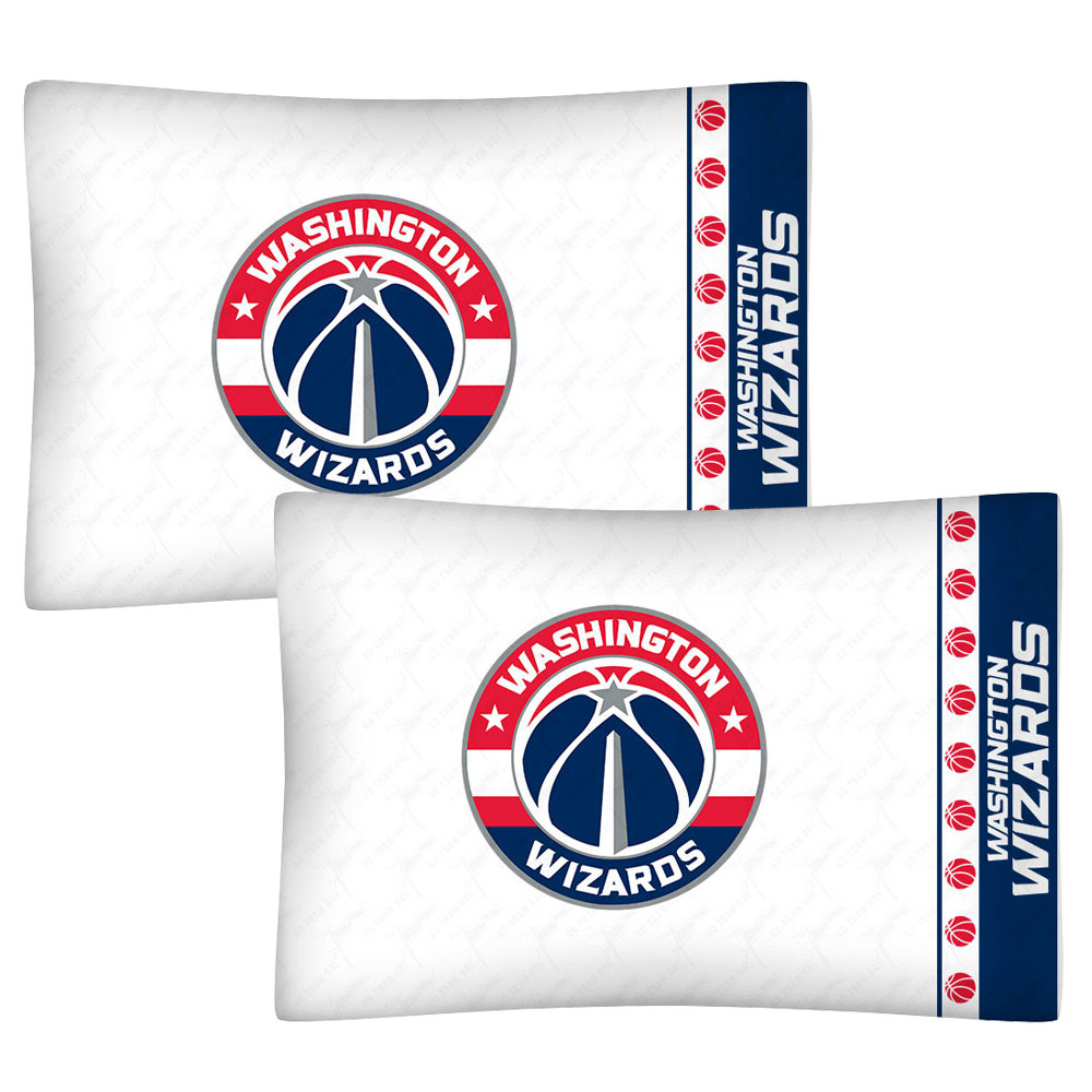 2pc NBA Washington Wizards Pillowcase Set Basketball Bedding