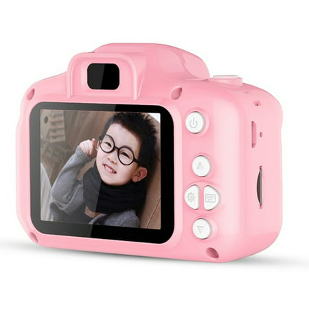 DC500 Full Color Mini Digital Camera for Children Kids Baby Cute Camcorder Video Child Cam Recorder Digital Camcorders Blue and Pink ()
