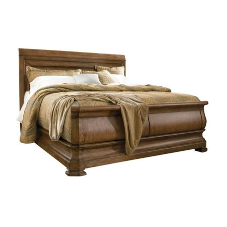 Beaumont lane sleigh king bed in cognac for Q furniture beaumont