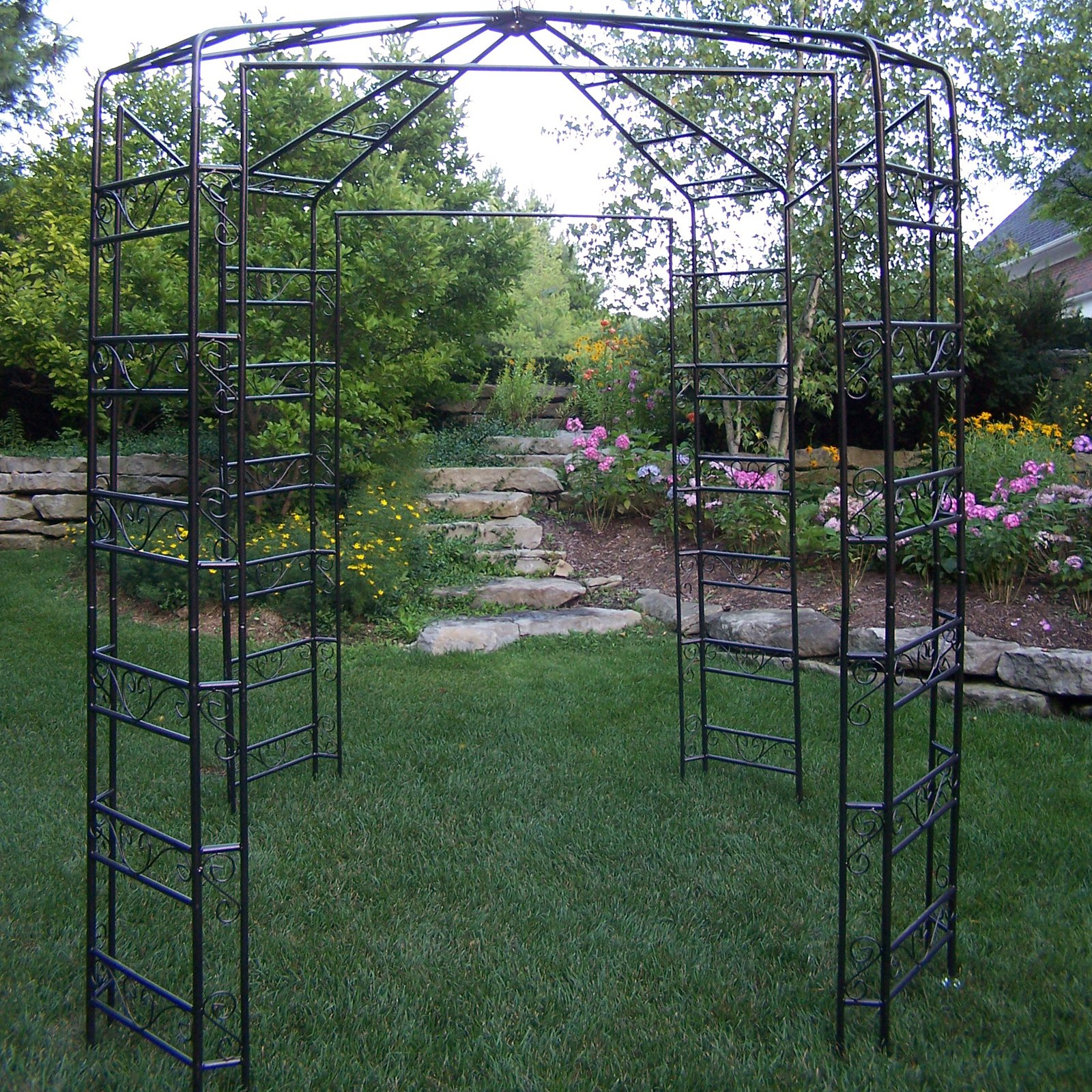 Oakland Living 9 x 9-ft. Iron Garden Gazebo by Oakland Living