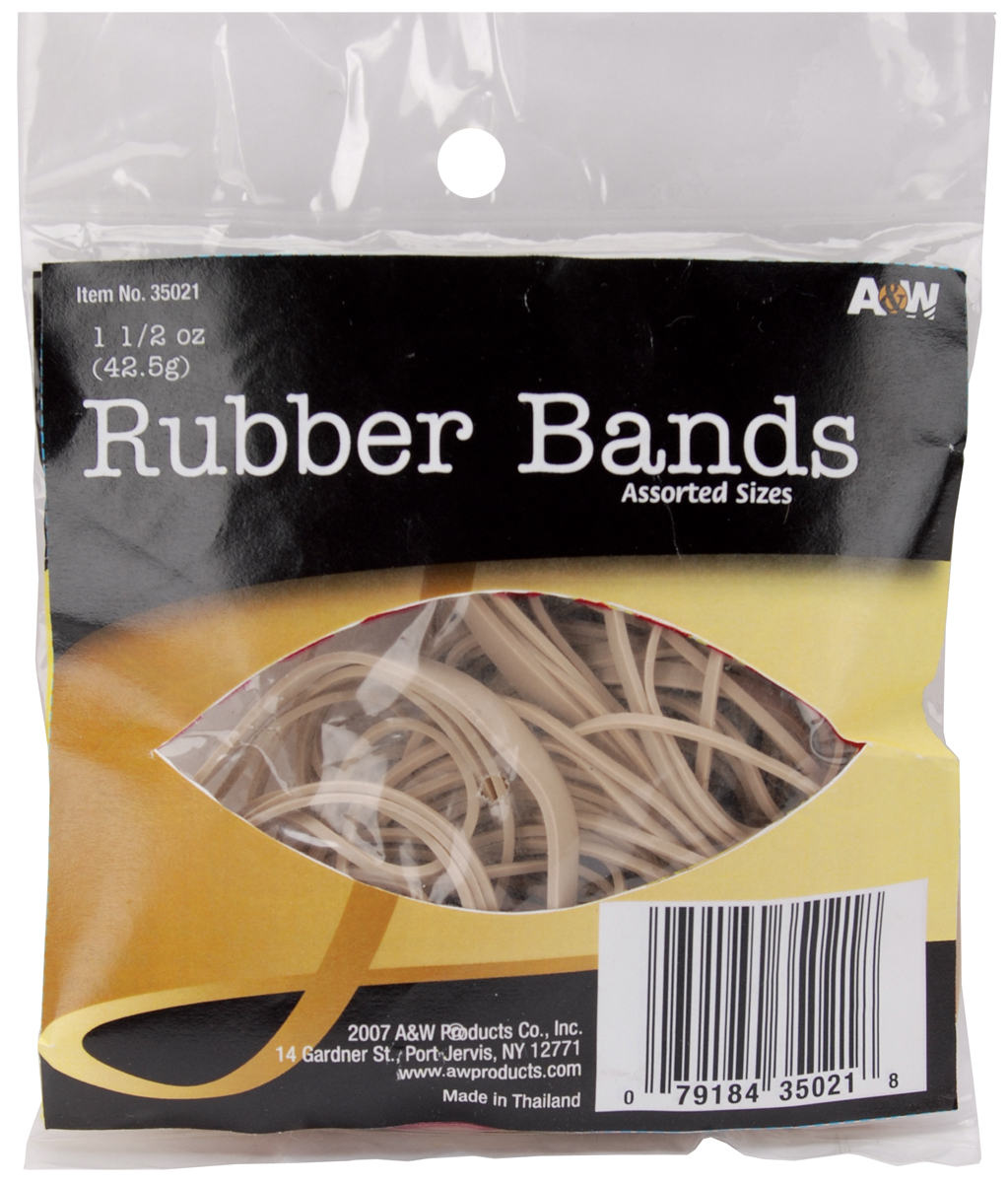 Rubber Bands 1.5oz-Tan - Assorted Sizes 35021