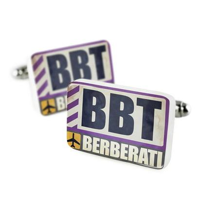 Cufflinks Airportcode Bbt Berberatiporcelain Ceramic Neonblond