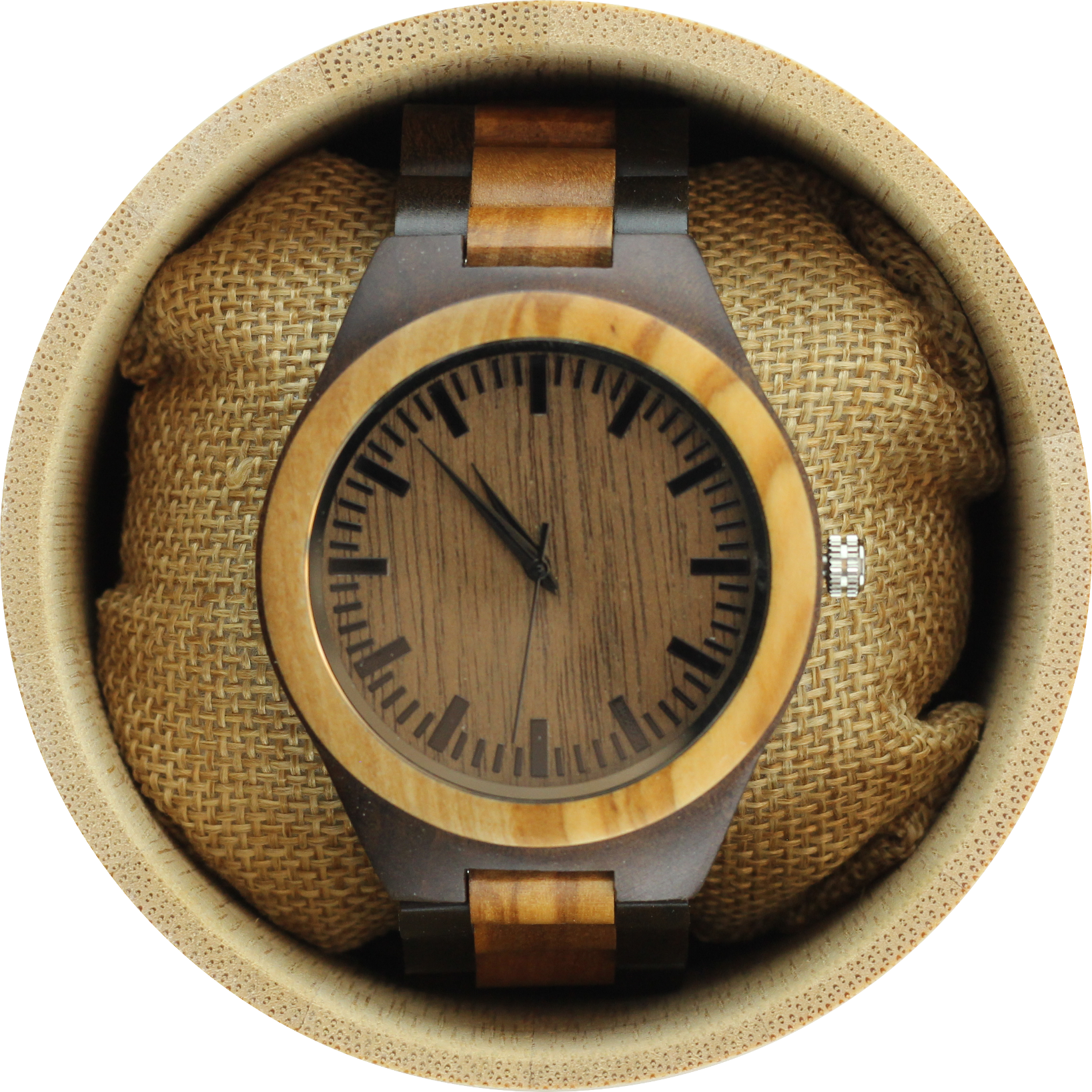 Angie Wood Creations Olive Wood Men's Watch With Olive Wood Bracelet - image 7 of 7