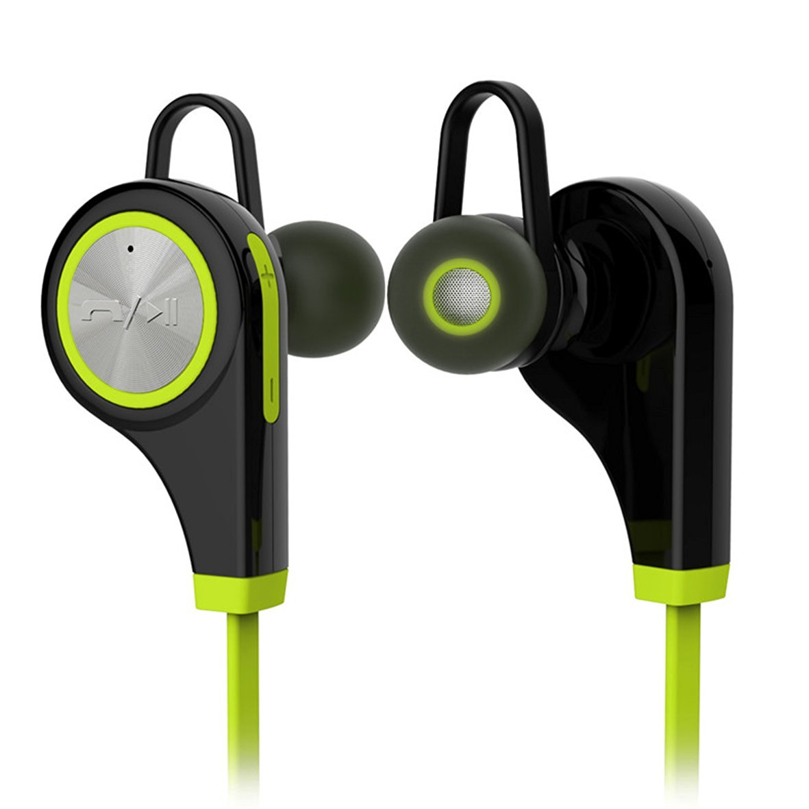 In-Ear Sport Bluetooth Headphone Wireless Sweatproof Stereo Earbud Headset Strong Heavy Bass Crystal Clear Sound Ergonomic Comfort Secure Fit, iPhone, ...