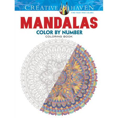 Color By Number Adults (Adult Coloring: Creative Haven Mandalas Color by Number Coloring Book)