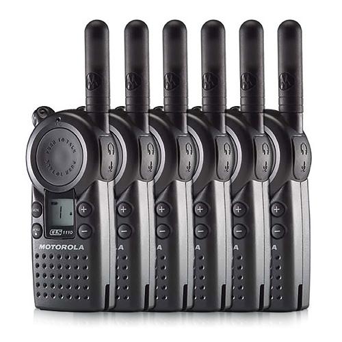 Motorola CLS1110 Two Way Radio 1 Channel 56 Frequencies 15 Floor Indoor Range (6 Pack)
