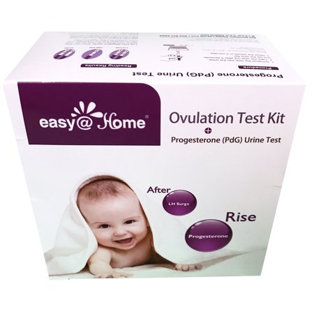 Easy@Home New FDA Registered 6 Progesterone (PdG) Test, 25 Ovulation (LH) Test and 15 Pregnancy (hCG) Combo Urine Test Strips Kit
