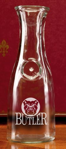 Butler Bulldogs Deep Etched 1 Litre Wine Carafe by Campus Crystal