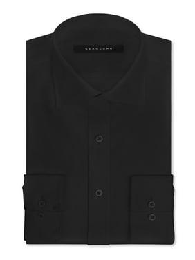 Sean John Mens Cotton Regular Fit Dress Shirt