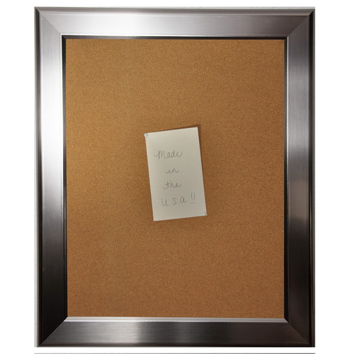 Rayne Mirrors American Made Rayne Silver Rounded Corkboard