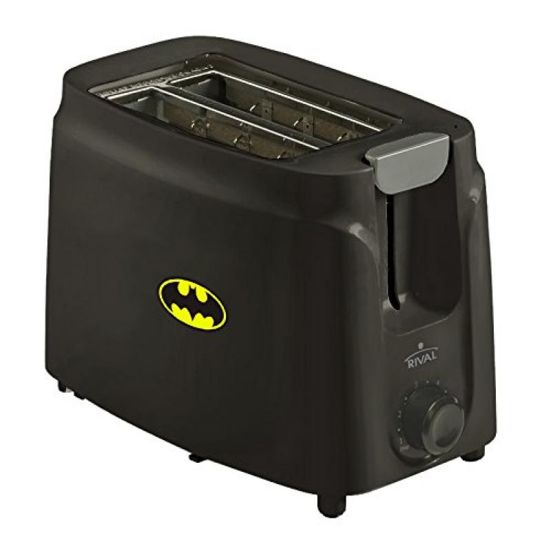 New 2 Slice Toaster in a Black Finish featuring batman Logo