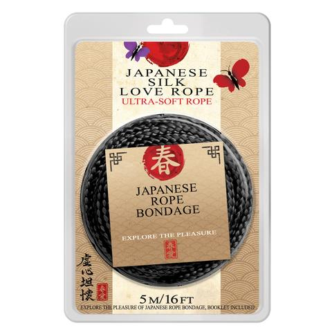 Japanese Silk Love Rope™ 16 ft. (5 m), Black