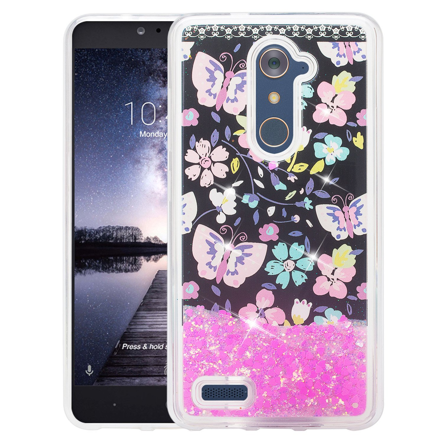 meet 1b827 5a9f2 ZTE Blade X Max, Zmax Pro Case w/ Tempered Glass Screen Protector ...