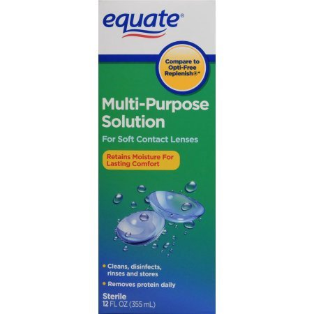 Equate Sterile Multi-Purpose Contact Solution, 12 Oz - Theatrical Contact Lenses