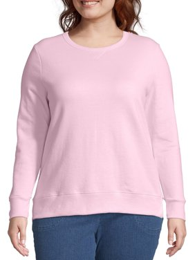 Just My Size Women's Plus Size Fleece Pullover Sweatshirt