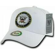 RapDom Navy Back To The Basics Mens Cap [White - Adjustable]