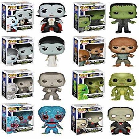Mummy Pop - Complete Set of 8 Universal Monsters Pop! Figures: Dracula, Frankenstein & His Bride, Wolfman, Mummy, Creature from the Black Lagoon, Phantom of the Opera & Metaluna Mutant