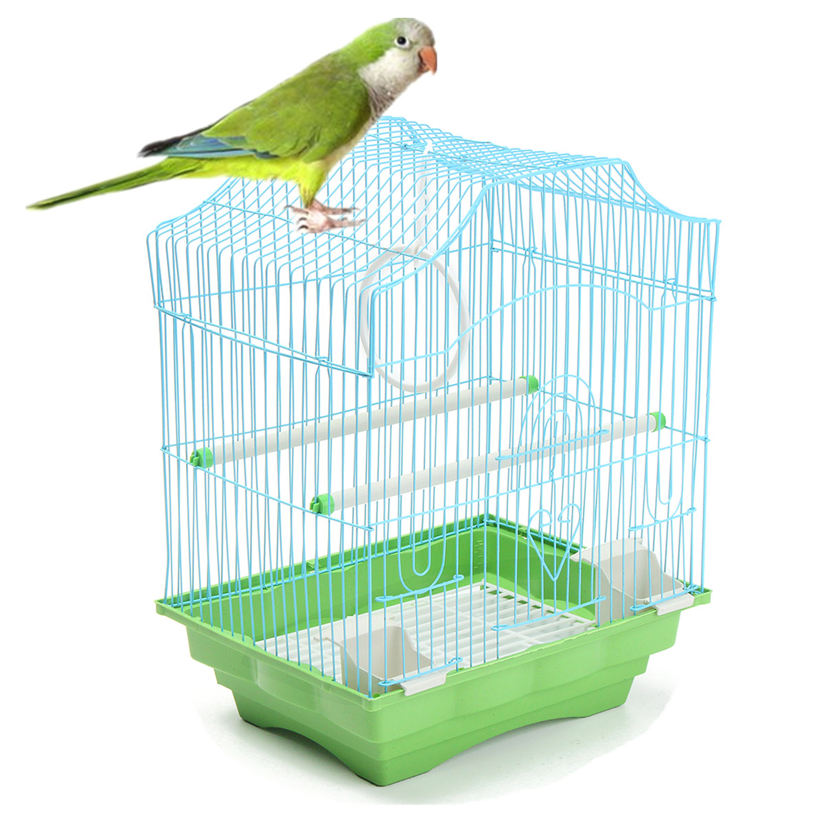 """Grtsunsea Small Bird Cage Pet Cages Budgie Finch Bird Cage Budgies Canary,15.1""""x11.4""""x8.26"""""""