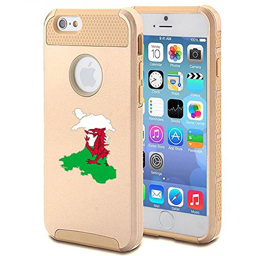 Apple iPhone SE Shockproof Impact Hard Soft Case Cover Wales Welsh Flag...