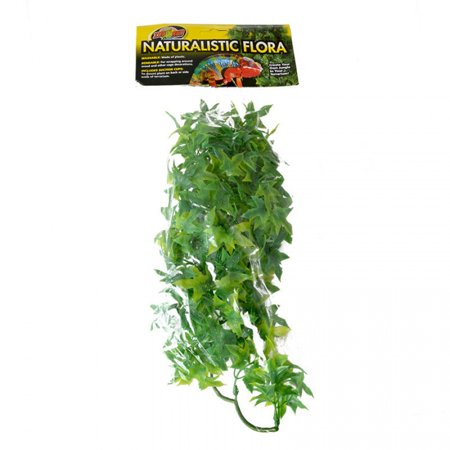 Zoo Med Natural Bush Congo Ivy Artificial Plastic Reptile Cage Decor Medium 12 - Reptile Decor