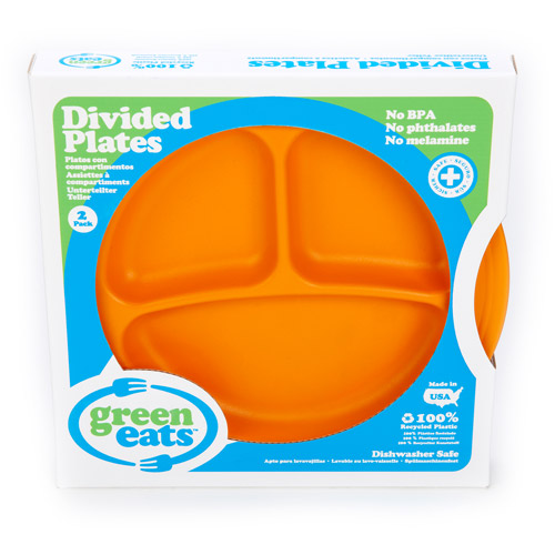 Green Eats Divided Plates, BPA-Free, Set of 2