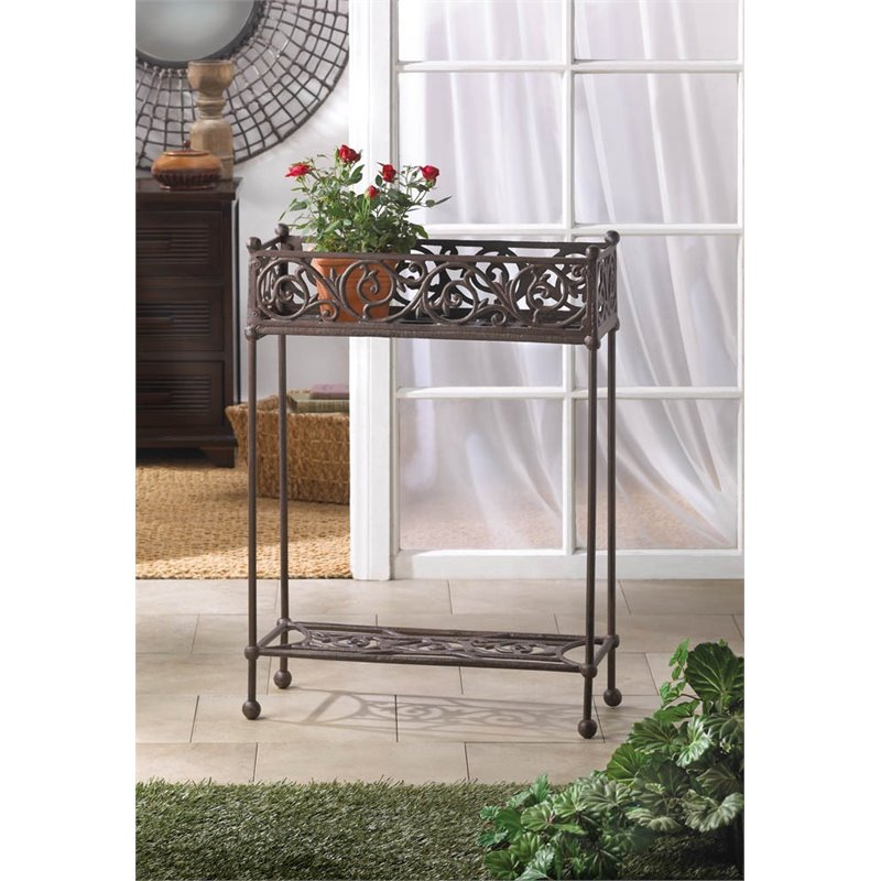 Zingz and Thingz 2 Tier Cast Iron Plant Stand in Black by Zingz & Thingz