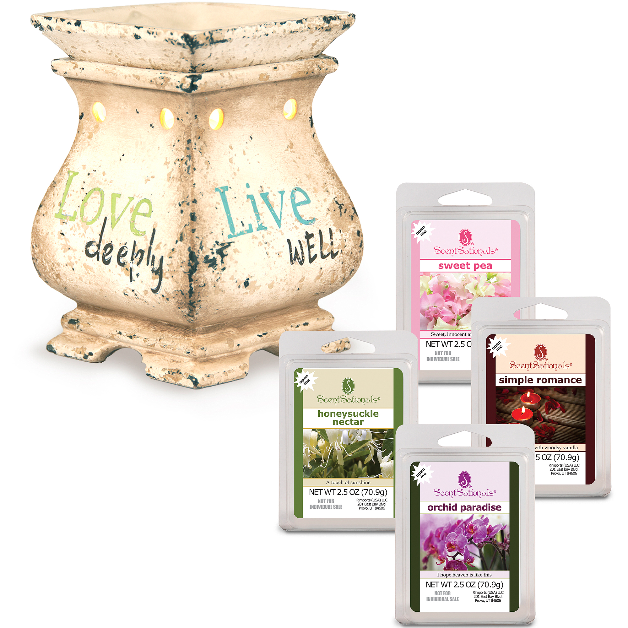 ScentSationals Warmer Starter Set, Tid Bits