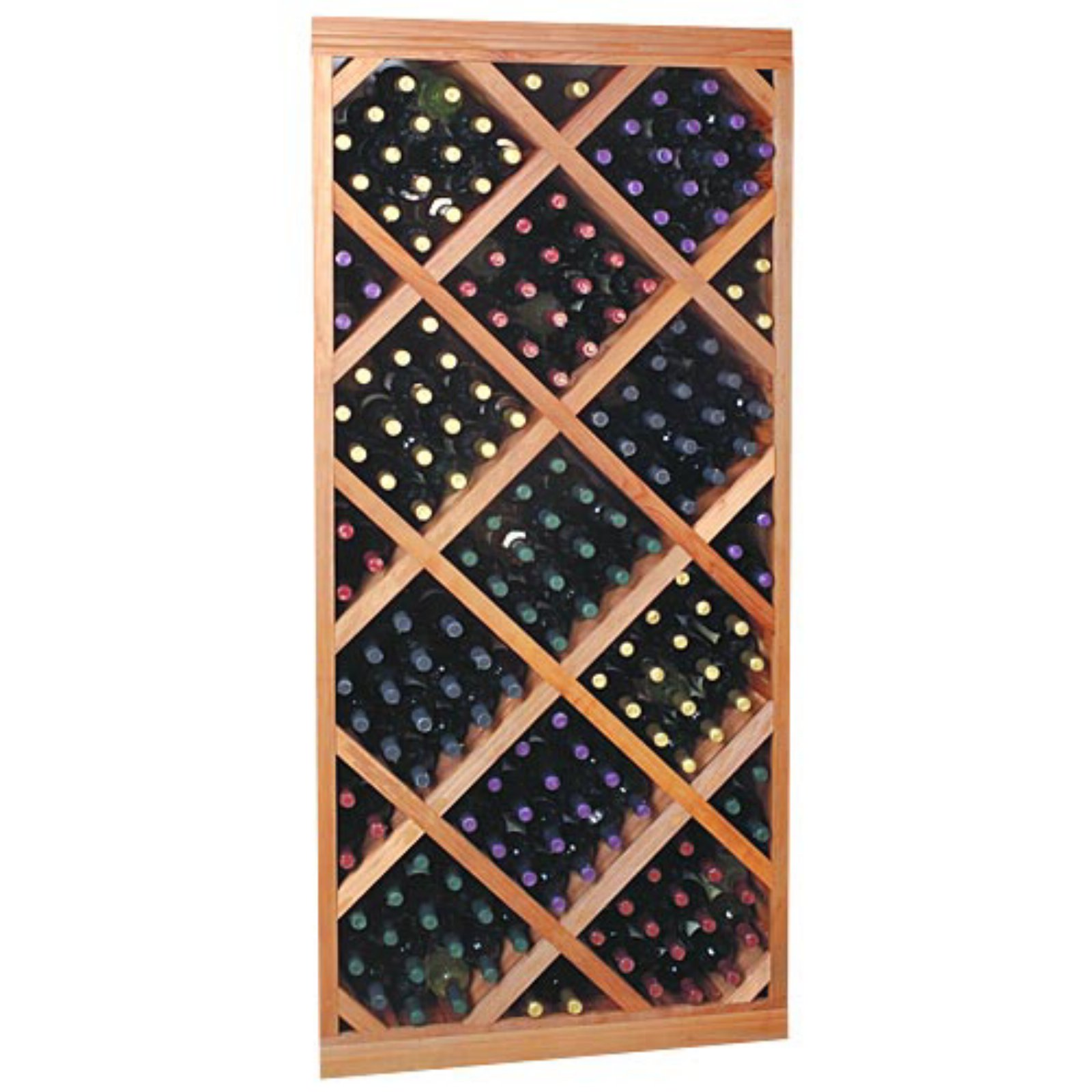 Designer Series 212-Bottle Diamond Bin Wine Rack