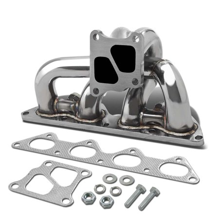 For 2002 to 2007 Mitsubishi Lancer Evolution Stainless Steel Turbo Manifold - EVO 7 8 9 VII VIII IX 03 04 05 (Evo Ix)