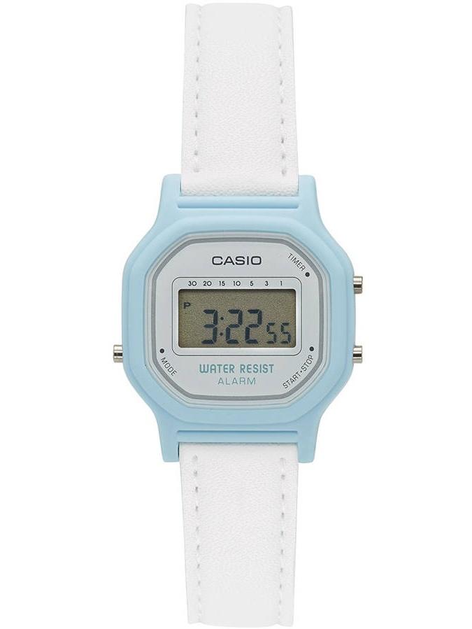 Women's Casual Digital Watch, White/Blue