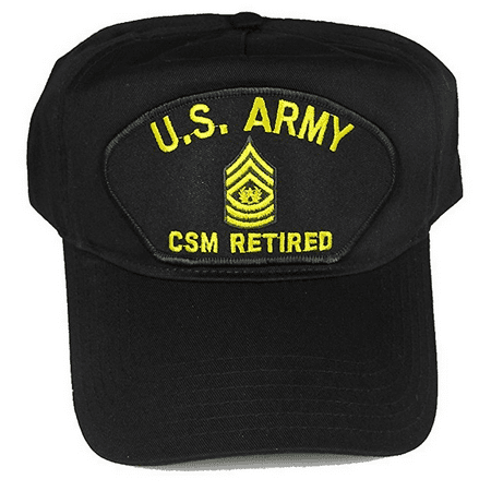 - US ARMY CSM COMMAND SERGEANT MAJOR E-9 RETIRED HAT CAP STAR WREATH