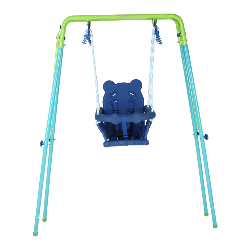 Tommyfit Toddler Baby Blue Swing Seat With Frame Outdoor Backyard by Tommyfit