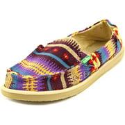 Sanuk Mika Women Round Toe Canvas Multi Color Loafer