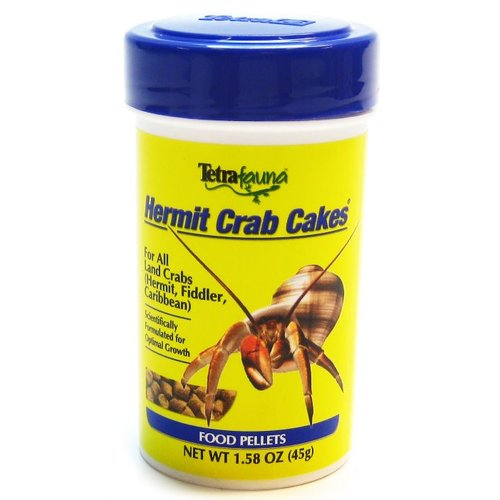 Tetrafauna Hermit Crab Cakes Food Pellets 1.58 oz