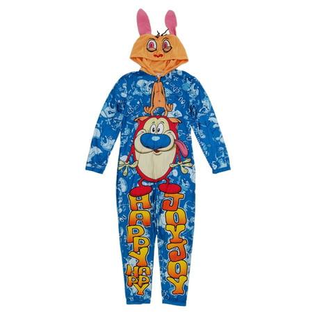 Underwear Halloween Costume (Nickelodeon Mens Blue Ren & Stimpy Costume Union Suit)