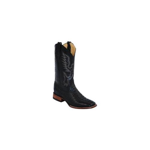 Ferrini 1049304080EE Mens Caiman Body Square-Toe Boots Black, 8EE by