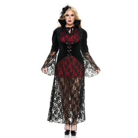 Black Widow Vampire Adult Costume - Plus Size 1X/2X for $<!---->
