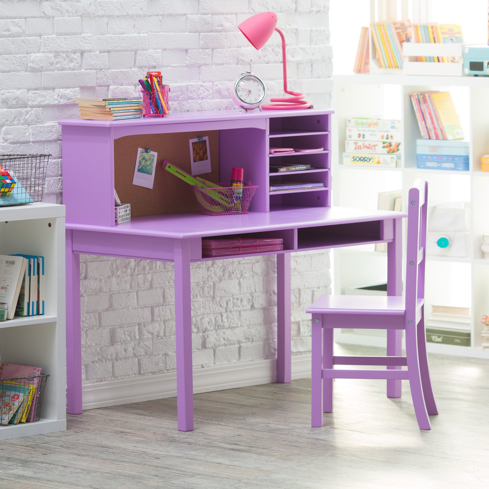 Guidecraft Media Desk & Chair Set - Lavender