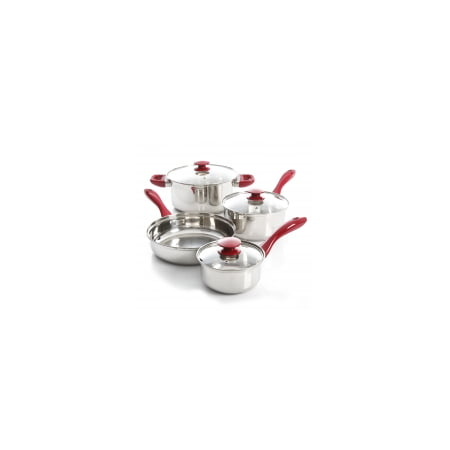 Sunbeam Crawford 7 Piece Stainless Steel Cookware Set