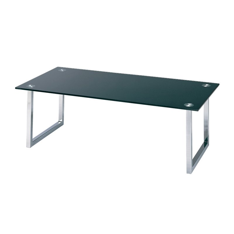 Lite Source Dane Glass Top Coffee Table in Chrome by Lite Source