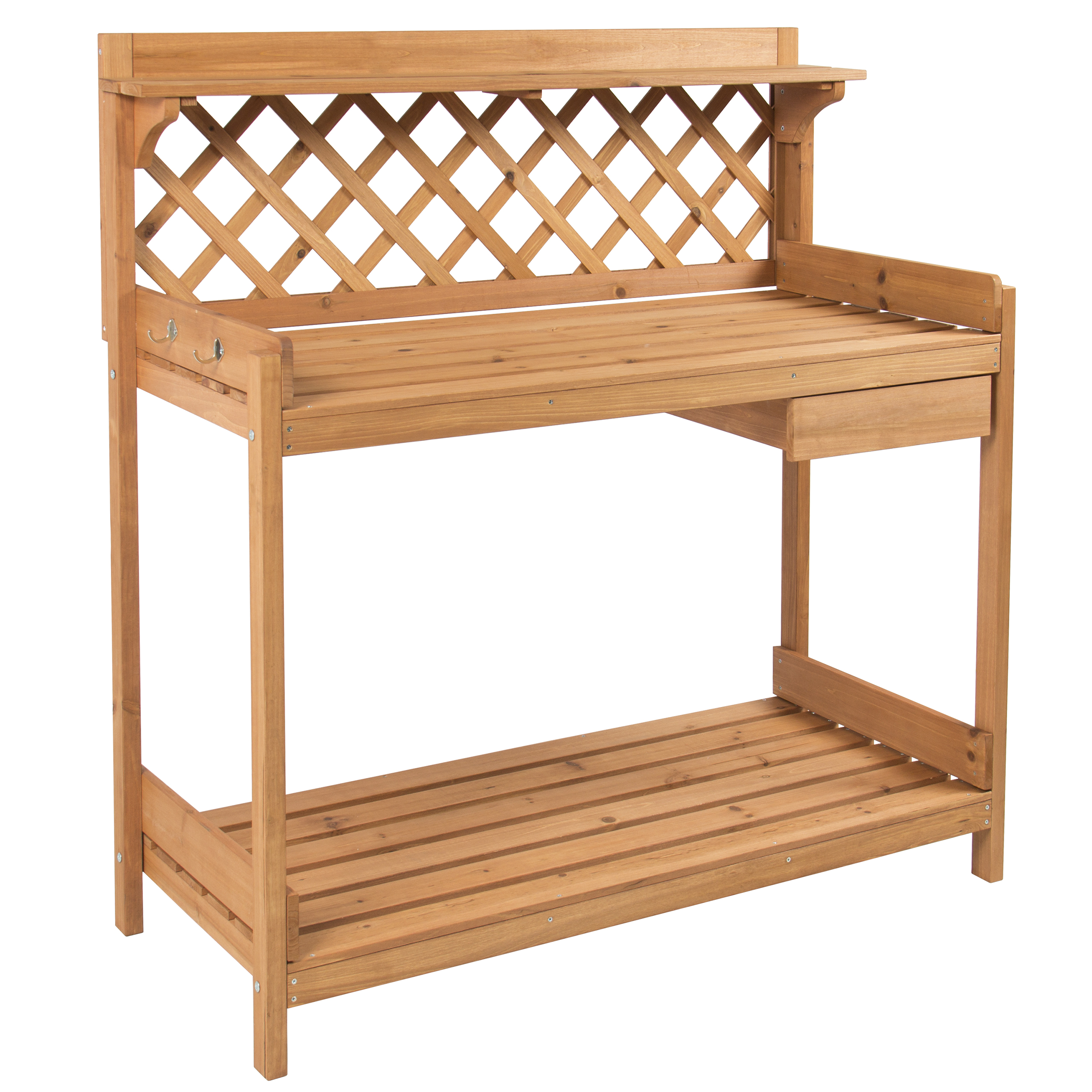 Wondrous Best Choice Products Fir Wood Potting Bench With Hooks Creativecarmelina Interior Chair Design Creativecarmelinacom