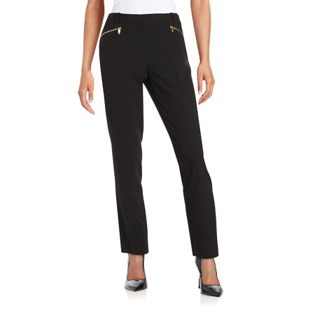Straight-Leg Zip Pants