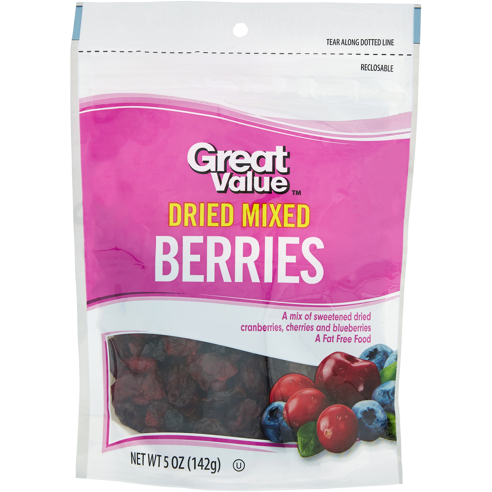 Great Value: Dried Mixed Berry, 5 oz