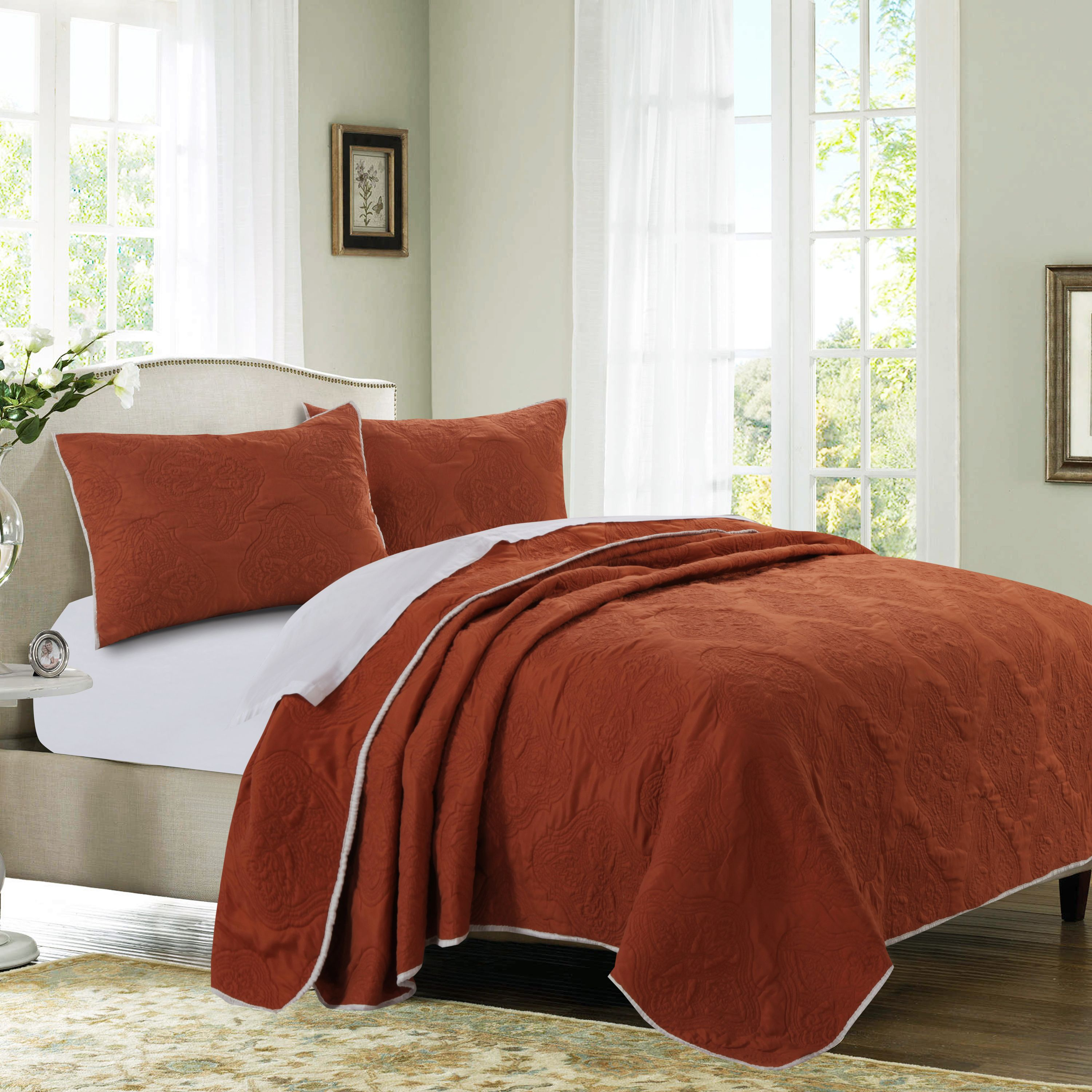 Global Trends Claire Sienna Quilt Set