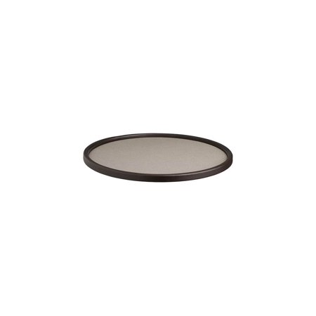 Round Serving Tray in Latte Brown Round Serving Plate