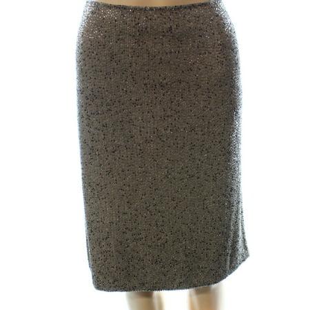 Lauren Ralph Lauren NEW Truffle Beige Womens 10 Bead Pencil Skirt