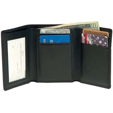 c893c09b930f Royce Leather - Men s Tri-Fold Wallet with Double ID Window in Genuine  Leather - Walmart.com
