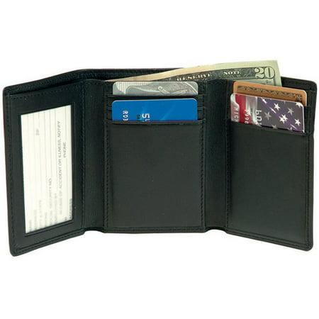 c893c09b930f Royce Leather - Men s Tri-Fold Wallet with Double ID Window in Genuine  Leather - Walmart.com