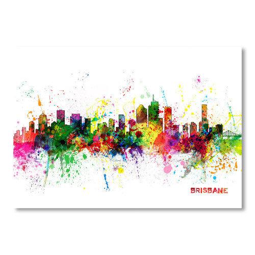 americanflat brisbane skyline wall mural walmart com